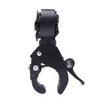 90 degrés Rotating Universal Cycling Grip Mount Bicycle Bike Clamp Audio Haut-parleur Clip Bicycle Flashlight LED Torch Light Holder