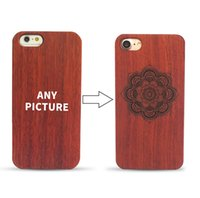 Wholesale laser engraved iphone case online – custom Laser Engraved Wood Case For iPhone S Plus Original Retro PC Wood Ultra Thin Back Cover Case