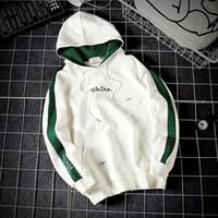 Wholesale Mens Hoddies - Hot Fashion White Pullover Fleece Hoddies for Adult Women Mens Athletic Front Poket Costume sweartshirts causal sport hoodie 17 styles M-5XL