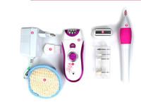 Wholesale Hair Nail Kits - Lady Epilator Rechargeable women Shaver Female depilator body Hair remover with nail file underarm bikin hair clipper EU 220V