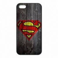 Wholesale Superman Logo Iphone Case - Coque Superman Logo Wood Phone Covers Shells Hard Plastic Cases for iPhone 4 4S 5 5S SE 5C 6 6S 7 Plus ipod touch 4 5 6