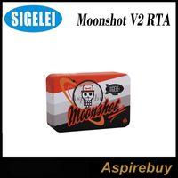 Wholesale Two Hole Atomizer - Sigelei Moonshot V2 24mm RTA Tank 24mm Diameter Two-Post Velocity-Style Design 3ML 2.5mm Terminal Post Holes Moonshot 24 Atomizer Original