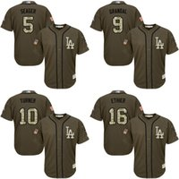 Wholesale Women Red Service - Men Women Youth Toddler Los Angeles Dodgers Corey Seager Yasmani Grandal Justin Turner Andre Ethier Green Salute to Service Stitched Jerseys