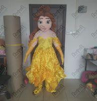 fazer trajes de cabeça de mascote venda por atacado-Trajes da mascote princesa vestido da mascote dos desenhos animados EVA cabeça qualidade princesa trajes mão fazer exportação menina andando ator