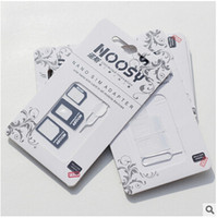 Wholesale noosy sim adapter for sale - Group buy High Quality in Noosy Nano Sim Card Adapter Set Micro Sim Stander Sim Card Tools SIM Card Pin For Iphone s s s plus with package