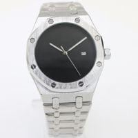 Wholesale Mens Clasp Belt - Top Luxury brand mens watches Automatic Mechanical black dial silver Stainless belt Royla Oak Offshore Original Clasp watch men