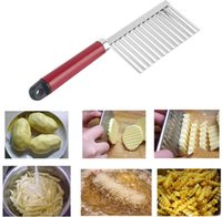 Wholesale 1pc Chip Dough Vegetable Carrot Blade Potato Crinkle Wavy Cutter Slicer Stainless kitchen accessories tools