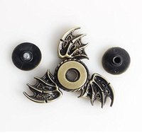 Wholesale fly fishing spinners - 50pcs Bat Fidget spinner Toy Zinc alloy Flying fish EDC Hand Spinner Magic eye hand spinners bats Metal Stress three wings spinner