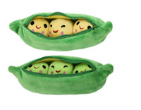 Hot Kids Baby Plush Toy Cute Pea Stuffed Plant Muñeca Novia Kawaii Para Niños Regalo Alta calidad Pea-shaped Pillow Toy