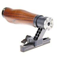 Wholesale Dslr Slide - CAMVATE Top QR Handle Set Wooden Grip Slide Rail Design fr DSLR Camera Cage