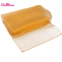 Wholesale Gold Organza Table Runners - Gold Organza Table Runner for wedding decoration event party supplies hot sale