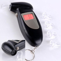 Wholesale Alcohol Alert - Factory Outlets Promotion Professional Keychain Digital Alcohol Tester Breathalyzer Analyzer Detector Audio Alert DHL Free Shipping