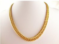 Wholesale Whipping Rope - Fashion Hot Seller18K gold-plated gold necklace Whips leading double thick necklace couple necklace
