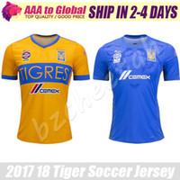 Wholesale Hugo Men - Tiger Jersey 2018 Mexico Tiger Club Autonomous University football shirts Hugo Ayala Manuel Viniegra shirts 17 18 Gignac Soccer Jersey