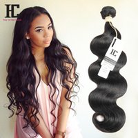 Body Wave brésilienne 3 Bundles Cheap Human Hair Extensions 8A Virgin Brazilian Body Hair Vague 100g / Pcs Brizilian Corps Cheveux ondulés