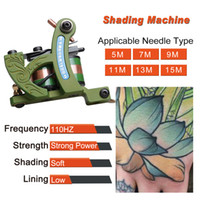 Wholesale Tattoo Steel Top - Top Professional Tattoo Machine Gun Wraps Steel Frame Copper Coil Shader WQ4455