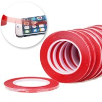 iphone düzeltme ekranı toptan satış-Red Color 2mm 3mm 5mm Double Side Adhesive Sticker Tape Fix For Cellphone Touch Screen LCD