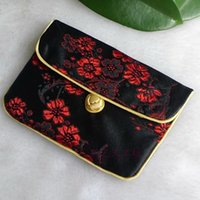 Wholesale Chinese Silk Knot Pouch - Chinese knot Zip Bags Small Coin Purse Pouch Card Holder Silk Brocade Christmas Gift Bag for Jewelry Packaging Wedding Birthday Party Favor
