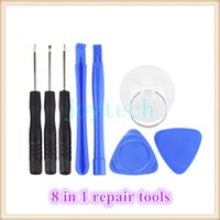 Wholesale Tools Repair Cell Phone Set - Wholesale price universal 8 in 1 cell phone smart phone repair tools Spudger Pry Opening Tool Screwdriver Set for iPhone iPad Samsung