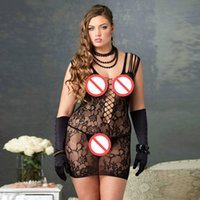 Frauen nahtlose Hollow Out Fishnet Chemise Standard ärmellose sehen durch transparente sexy Dessous Nachtwäsche Nightie Bodydoll Lenceria