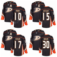 Wholesale Hockey Jersey Kesler - 2018 New Style Anaheim Ducks 10 Corey Perry Jersey 15 Ryan Getzlaf 17 Ryan Kesler Ice Hockey Jerseys All Stitched Black 30 Ryan Miller