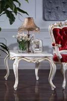 antike massivholzmöbel großhandel-Französische Wohnzimmermöbel aus Massivholz - Antique classic couchtisch - Italienischer quadratischer Couchtisch