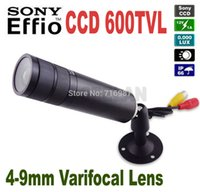 "Wholesale Ccd Zoom Wireless - Mini Bullet Camera 1 3"" Sony CCD 600TVL Bullet CCTV Security Camera with 4-9mm Varifocal Lens ZOOM Camera"
