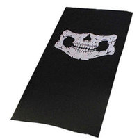Wholesale half balaclava - High Quality Skull Balaclava Traditional Face Head Mask Gator Black bike skateboard Hood Costume Party Headgear