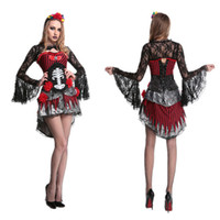 Wholesale Devil Queen Costume - Vampire queen Halloween costumes Skull devil costumes Club theme party stage costumes Halloween cosplay