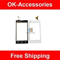 Wholesale Iq Style - Black White Color For Fly IQ4418 era style 4 IQ 4418 Digitizer Touch Screen Touch Sensor Glass Lens Replacement 1pc lot Free Shipping
