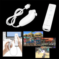 Wholesale Nunchuk Remote Controller - Remote and Nunchuk Controller Set for Nintendo Wii Game