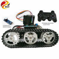 Wholesale Motor Control Boards - Official DOIT Wireless Control Smart Robot Crawler Tank Car Chassis with Arduino Uno R3 Board Motor Drive Shield for Arduino Kit