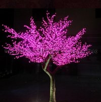 2017 NEW LED Cherry Blossom Tree Light 1536pcs LED Bulbs 2m Height 110 220VAC Seven Colors for Option Rainproof Outdoor Usage MYY