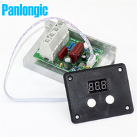 Wholesale Digital Electronic Thermostat - AC 220V 10000W 80A Digital Control SCR Electronic Voltage Regulator 10-220V Speed Control Dimmer Thermostat + Digital Meters