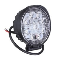 Wholesale Led Driving Lights For Boats - 10pcs 4 Inch 27W LED Work Light Bar for Indicators Motorcycle Driving Offroad Boat Car Tractor Truck 4x4 SUV ATV Flood 12V