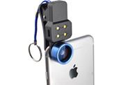 Wholesale Angle Eyes Led - Bonzeal LED Fill Light 3 4 in 1 Clip-on Cell Phone Camera Fish eye 198 Degree Fisheye 0.4 Wide Angle 15 Macro Lens Universal