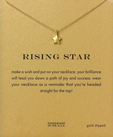 Wholesale Necklace Stars Heart - Rising Star Dogeared Necklace (Rising Star) Noble and Delicate Jewelry 18K Gold Charm Necklace Pendant Necklace for Girls