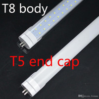 Wholesale Energy Saving Fluorescent T5 - Wholesale Hot!!! double rows T8 with t5 end LED tube light 4FT 40W fluorescent lamp T8 tube AC100-347V 4000lm 1200mm 4 feet tubes 192pcs