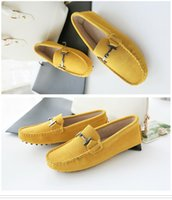 Wholesale Leather Casual Moccasins - Shoes Women 100% Genuine Leather Women Flat Shoes Moccasins Spring Autumn Casual Women Shoes Loafers Flats Fashion Driving Shoes