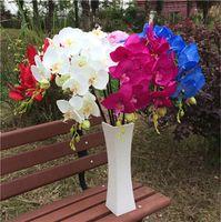 flores largas orquídea al por mayor-Orquídeas de seda 100 cm / 39.37