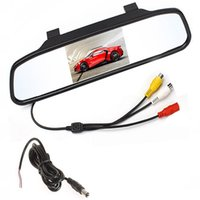 Wholesale Reverse Camera For Toyota - Color TFT LCD Car Rearview Mirror Monitor 4.3 Inch Screen Car Monitor For Cars Fit For Rear View Camera Reverse Camera DVD
