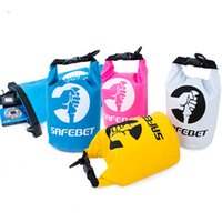 Wholesale Waterproof Bag 2l - NEW Portable Ultralight Outdoor Travel Rafting Waterproof Dry Bag Swimming 2L Small 4 color Free Shipping