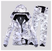 Wholesale Men Snowboard Set - Free Shipping Fashion Man Ski Jacket+Pant Outdoor Sport Wear Ski Suit Windproof Waterproof Suit Set 2016 Fashion Snowboard Skiing Clothing