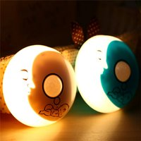 Wholesale baby room light projectors for sale - Group buy USB Crescent Adorable Treasure Night Light Blue White Night lamp For Children Baby For Room Decoration Gift