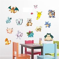 Wholesale Stickers For Walls Kids - Popolar Pikachu Decal Removable Wall Sticker Home Decor Art Kids Children Nursery Loving Home Decoration Gift For Children DHL B0457
