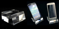 melhor tela do celular venda por atacado-6 pcs Melhor venda de Alta-grade Acrílico Sulco De Cristal Móvel Suporte de Exibição de Telefone Celular Rack de exibição de tela grande Frete grátis