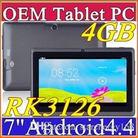 Wholesale Tablet Android Ship Dhl - 2016 DHL free shipping 2016 7 inch 4GB 512MB Capacitive RK3126 Quad Core Android 4.4 dual camera Tablet PC WiFi EPAD Youtube Facebook I-7PB