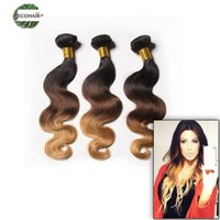 Wholesale Dhgate Ombre Weave - Ombre Indian Wet And Wavy Hair Body Wave 5Pcs Lot Indian Body Wave Hair Weave Bundles T1B 4 27 30 DHgate Hair Extensions