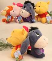 Wholesale Toy Pigs Wholesalers - 18cm Winnie The Pooh Plush toys Dolls Cartoon Animal Pooh Bear Piglet Pig Tigger Tiger Eeyore Donkey Stuffed Toys Children Gifts D399 8