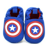 Wholesale Baby Step Shoes - Baby Boy Shoes for Newborns First Walkers Infant Toddler Steps Prewalker Brand Shoes Captain of America Spring Autumn 2016 New